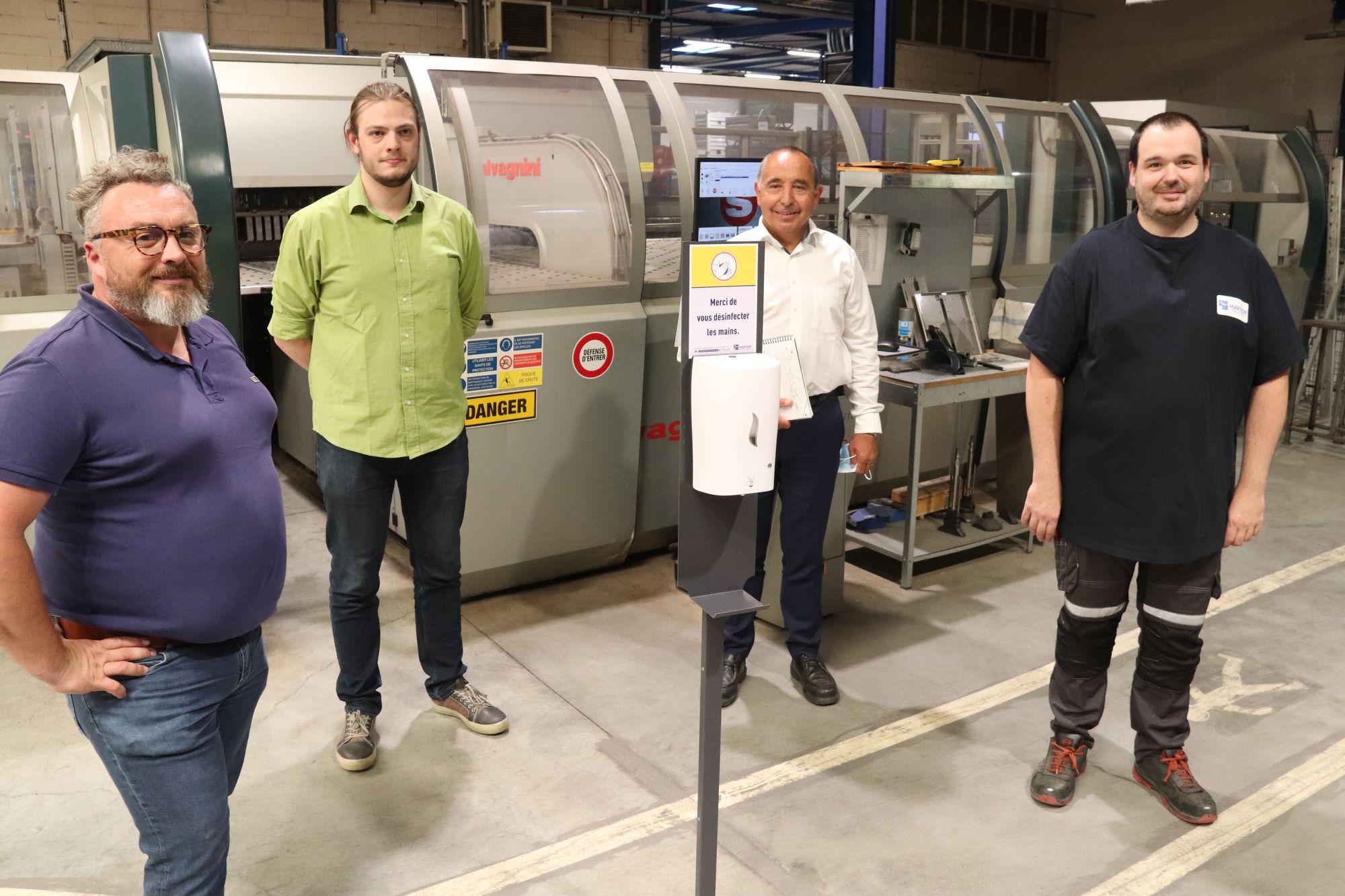 Besançon. L'entreprise Mantion fabrique un distributeur de gel hydroalcoolique