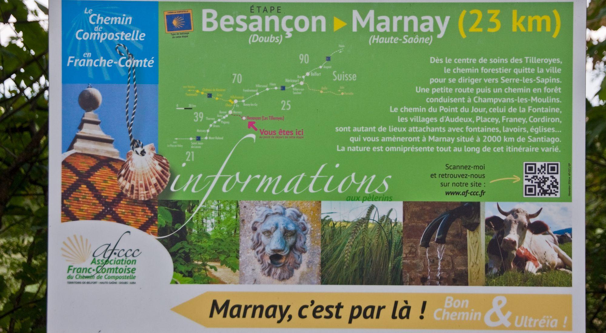 Compostelle. Du 23 au 25 juillet, en chemin de Marnay à Quingey